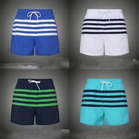 Homme Été Summer Beach Pantalon Stripe Soft Loisirs Spous Loisirs Bleu Patchwork Cinq Points Pantalons Pantalons A Respirant Blanc Blanc Vert Haute Qualité 27MG D1
