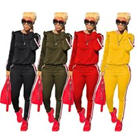 Designer women ruffle outfits hoodie+ leggings 2 piece sets t...