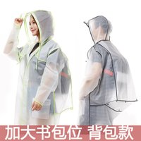 Adult Hiking Tour Long Raincoat with Backpack Position Men&#...