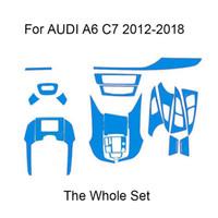 3D 4D 5D Karbon Elyaf Vinil Çıkartması Çıkartma için AUDI A6 C7 4G 2012-2018 Araba İç Dekorasyon / Yükseltme / Koruma