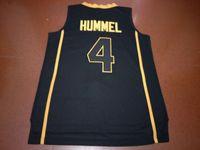 Benutzerdefinierte Männer Jugend Frauen Weinlese # 4 PURDUE ROBBIE HUMMEL Basketball-Jersey-Größe S-4XL oder benutzerdefinierten beliebigen Namen oder Nummer Jersey