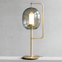 현대 유리 테이블 램프 침실 침대 옆 테이블 조명 스칸디나비아 장식 데스크 조명기구 램프
