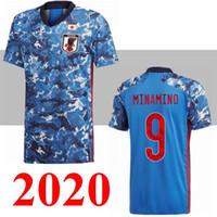 2020 Japão Home Soccer Jerseys Blue National Team 2020 Camisa de Futebol # 10 Kagawa # 9 Okazaki # 5 Nagatomo # 4 Honda Futebol Uniforme