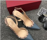 hot women' s pointed rivet heels, women' s slingback...