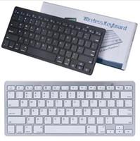 Teclado ultra slim Bluetooth Mudo tablets e smartphones Para Tablet sem fio Estilo de teclado para ios Android PC Windows com caixa retial