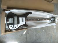 4 строки черные 4003 электрические басы гитара хромированные аппаратные изделия одно PC шеи тела хорошее связывание тела двойной выход RIC China Bass