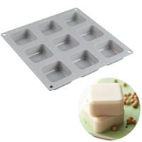 9 캐비티 빵 덩어리 팬에 대 한 다기능 실리콘 케이크 몰드 케이크에 대 한 베이킹 장식 도구 실리콘 몰드 비누 베이킹 도구