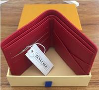 Kırmızı Ünlü marka tasarımcısı cüzdan Kadın erkek moda kısa çanta para Çantaları pu Classicmen çanta kart sahipleri