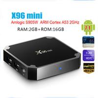 X96 مصغرة الروبوت 8.1 صندوق التلفزيون 2.4 جرام واي فاي S905W رباعية النواة 1GB 8GB 2GB 16GB SmartTV