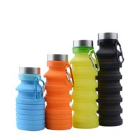 Silicone Water Bottle Collapsible Portable Travel Outdoor Wa...