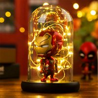 Marvel super hero spinne led tischlampe iron man hulk deadpool led lampe nachtlicht multicolor weihnachtsdekor kinder geschenk spielzeug