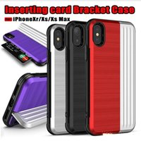 For iPhone XS Max Xr Phone Case 2 in 1 Cases with Card Slot ...