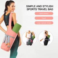 Мода йога коврик сумка холст йога сумка большой размер карманный уборной большинство веществ коврики коврики