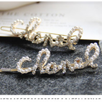 New Fashion Pearls And Diamond Studded Big Hair Clips Englis...