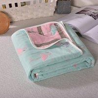 Frühling und Sommer-Baby Quilt 2019 New Doppel Printed Kühler Waschbar Einzel klimatisiert Quilt 110 * 110cm 100% Baumwolle freie neue heiße