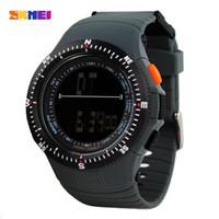 SKMEI 0989 Hombres Deportes relojes relojes de moda ocasional de los hombres del reloj de cuarzo LED digital resistente al agua Militar pulsera LY191213