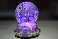 Birthday gift music box colorful rotating snowflake crystal ...