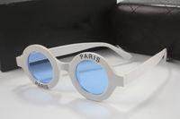 Großhandel-Luxus Runde Sonnenbrille Womens Designer Coating Brille Paris Print 2018 New Italy Berühmte Damen Brillen kommen mit Box