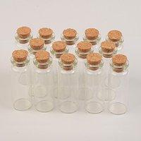 22x60x12.5 mm 14 ml decrotive verre Fioles des flacons en verre avec des bouchons Parfums souhaitant pendentif Bouteilles 100 pcs