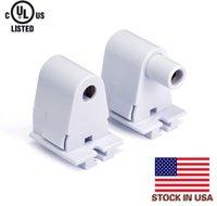Фото В США + T8 / T10 / T12 Single Pin Slimline Fa8 Tombstone Base Светодиодная трубчатая лампа Замена Fluorescent Плунжер Lampholder гнездо Белый
