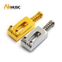 6pcs / set Concaved Typ E-Gitarren-Tremolo-Brücke String Sättel 20.5 * 10.5mm Chrom / Gold