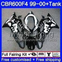 Corps + réservoir pour HONDA CBR600 F4 CBR 600 F4 FS CBR600 F 4 287HM.18 CBR600F4 99 00 CBR600FS CBR 600F4 Graffiti noir chaud 1999 2000 Kit de carénages