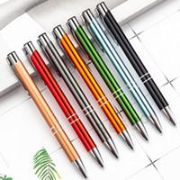 New métal stylos à bille bille Stylo à bille Signature d'affaires stylo Bureau école papeterie étudiants cadeau 13 couleurs personnalisable DBC BH2714