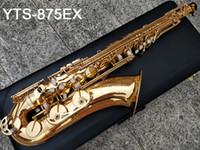 اليابان ماركة ساكسفون تينور YTS-875EX B شقة ورنيش الذهب النحاس ساكس تينور النحاس ساكس تينور النحاس لعب الموسيقى أداة مع القضية
