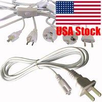 1m T5 T8 Çift Bitiş 3pin LED Tüp Bağlayıcı Kablo Tel, Entegre LEDTube için anahtarı ile Uzatma Kablosu ABD fişi