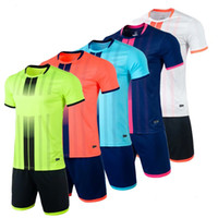 Jersey Blank soccer, enfants ADULTE Football Kits Vêtements Hommes Survêtement enfants Court Soccer Training Costume Vêtements de sport Uniforme