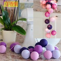 3M Colorful LED Cotton Ball Lights String Christmas Decor LE...