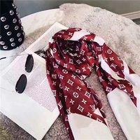 Bufanda de seda de la marca para las mujeres de la primavera DISEÑA Largas bufandas envueltas con la etiqueta 180x90cm chales