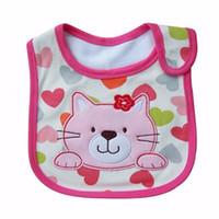 Bavaglini bambino modello carino cartone animato bambino bambino asciugamano impermeabile saliva cotone in forma 0-3 anni di panni bambino Burp alimentazione
