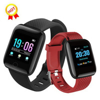 116 plus intelligent montre bracelet de remise en forme de fréquence cardiaque Tracker Podomètre Activity Monitor Girls Band Wristband pour Apple Samsung Android