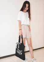 2019 hot sale New Fashion Tote Bags Handbag Elegant Simple Canvas Hit Color Big Bag High Quality Large Capacity Single Shoulder