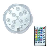 Led Control remoto RGB Luz sumergible Funciona con pilas Lámpara subacuática de noche Florero al aire libre Tazón Decoración de fiesta de jardín