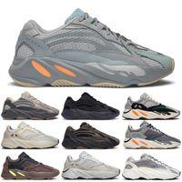 الجملة الاحذية كاني 700 حذاء الصلبة رمادي أبيض برتقالي og B75571 موجة عداء رجل إمرأة حذاء أسفل و 3 متر المواد ديسبونت