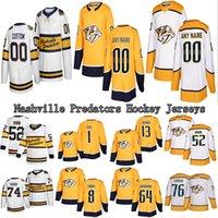 Jersey su ordinazione Nashville Predators 59 Roman Josi 14 Mattias Ekholm (A) 64 Mikael Granlund 8 Austin Watson qualsiasi nome Qualsiasi NumberHockey maglie