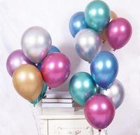 """Las actividades mayoristas 10 """"12"""" globo de metal fiesta de cumpleaños de la boda arreglo de globo decorado"""
