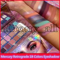 Yeni Sıcak Yeni Güzellik Mercury Retrograd 18 Renkler Göz Farı Pırıltılı Bling Bling Bling Göz Farı Mat Göz Farı ile Yüksek Kalite ile Stokta