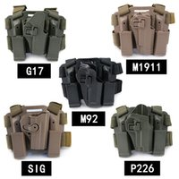 2019 Tactical Holster Leg pierna derecha Paddle Belt Lock Duty Tactical Holster Revista antorcha Bolsa para Gl 17 1911 USP P226