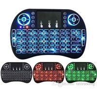 RII MINI I8 لوحة مفاتيح الخلفية لالروبوت التلفزيون مربع التحكم عن بعد 2.4G لوحة المفاتيح اللاسلكية مع لوحة اللمس للتلفزيون الذكية PC MQ20