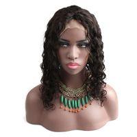 Perruques avant en dentelle pour femmes noires Vague profonde Cheveux Remy cheveux Brésilien Human Cheveux Perruques 130% Densité Naturelle Couleur DHL Livraison Gratuite Bella Cheveux