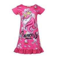 Girls Unicorn Dress 2019 niños vestidos de verano para niñas niña ropa de noche vestido casual vestido para 110-150cm