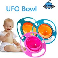 Bébé Bowl 360 Rotation universelle Gyro Spill-Proof Bowl New Baby UFO Top Bowl Plats Plats Antipollution enfants Jouets d'alimentation drôle de cadeau