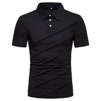 T-Shirt Short Sleeve Solid Color Herren-Oberteile Gestreifte Panelled beiläufige Mens Kleidung der neuen Ankunfts-Sommer-Männer Designer