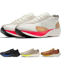 2019 Nuevas llegadas Más alta calidad Moon Racer QS para mujer para mujer Zapatillas de deporte Espuma 4 Athletic Sport Zapatillas Retro Jogging transpirable Chaussures