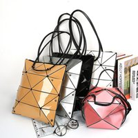 Japanese Geometry Single Shoulder Bag Creative New PU Bright...