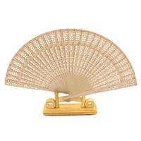 faveurs de mariage 100pcs / lot chinois sculpté pliage parfum fournitures de décoration de la maison de évantail en bois gros LX1231