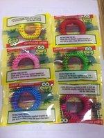 Новый комаров браслет Эластичный Эластичный катушки Спиральная руки лучезапястного сустава против комаров браслет Детские браслеты DH0146